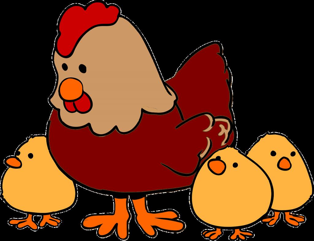 Mala rdeča kokoška