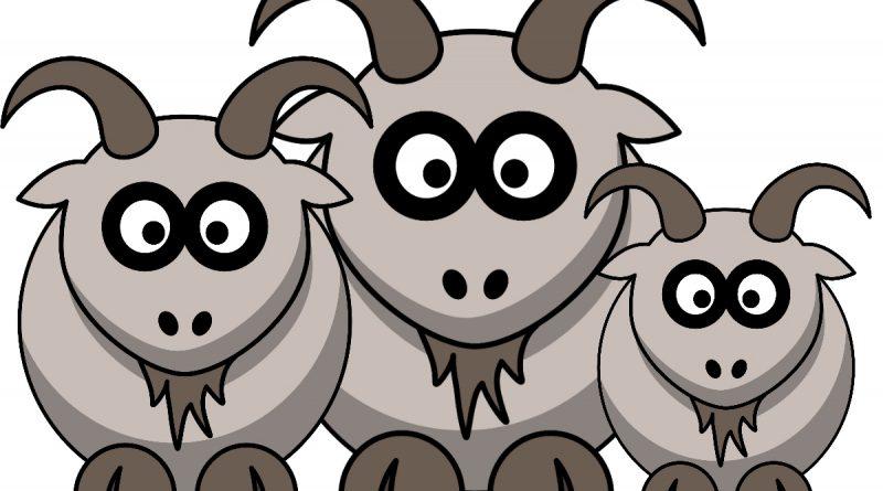 Trije kozli - pravljica za lahko noč