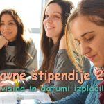 Državne štipendije 2017 – višina in datumi izlačil