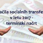 Izplačila socialnih transferjev v letu 2017 – terminski načrt
