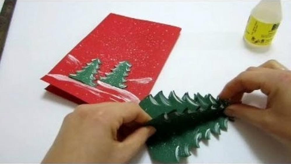 Kako izdelati 3D božično-novoletno voščilnico?