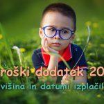 Otroški dodatek 2017 – višina in datumi izplačil