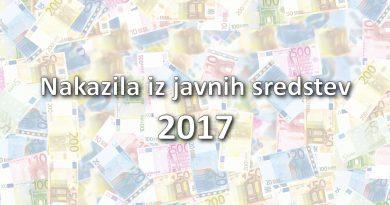 Nakazila iz javnih sredstev 2017