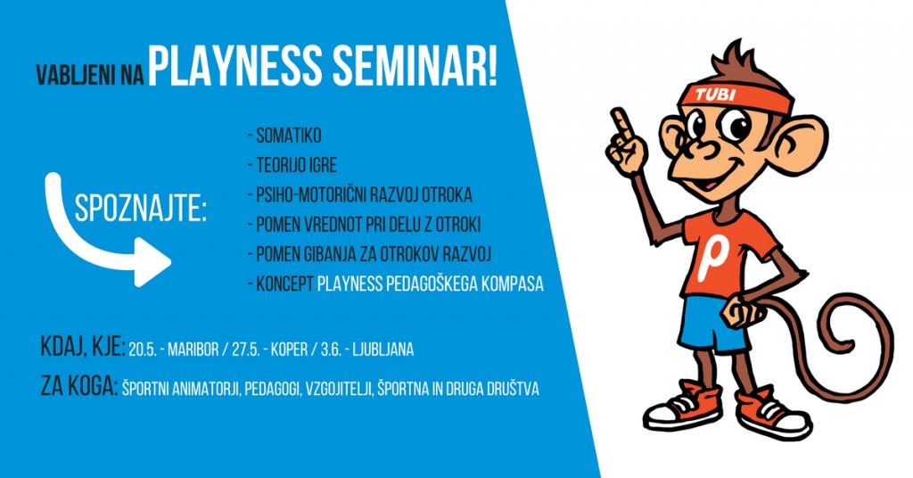 Vabilo na Playness seminar z dr. Milanom Hosto