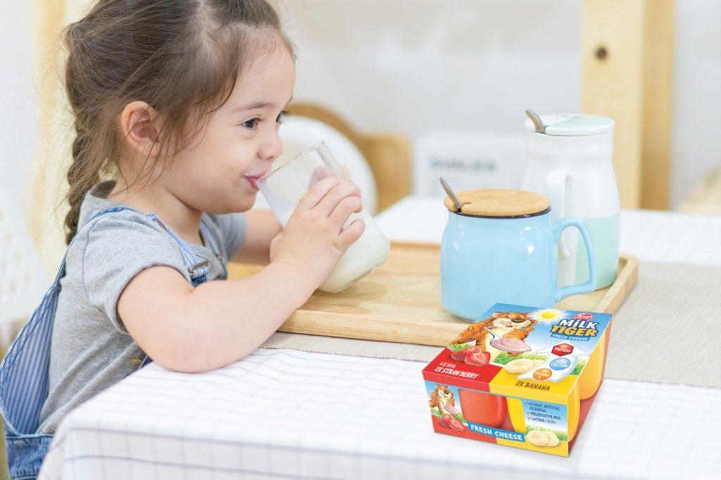 Vsestranska mlečna zabava za otroke