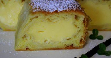 Recept: Marianin vaniljev zavitek s pudingom