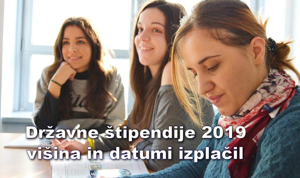 Državne štipendije 2019 - višina in datumi izplačil