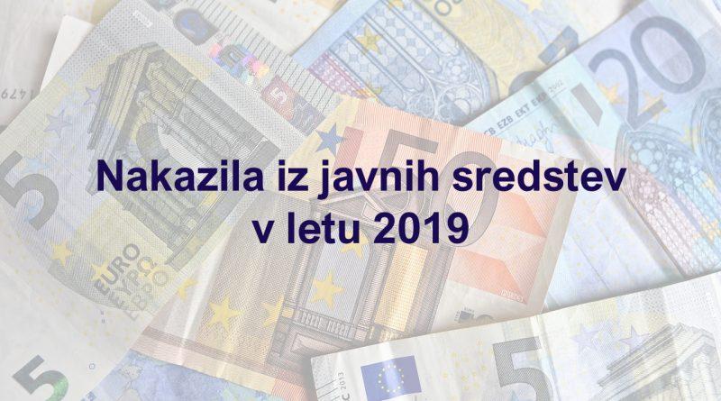 Nakazila iz javnih sredstev 2019