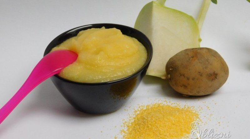 Recept: Irenina zelenjavna kašica s kolerabo, krompirjem in polento