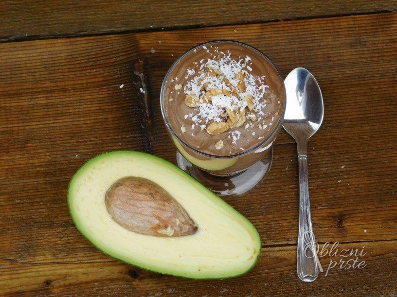 Čokoladno avokadova krema